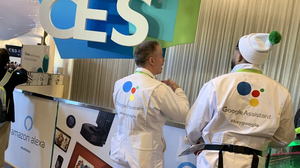 Google Assistant reps at CES
