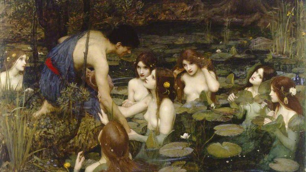 Hylas and the Nymphs by JW Waterhouse