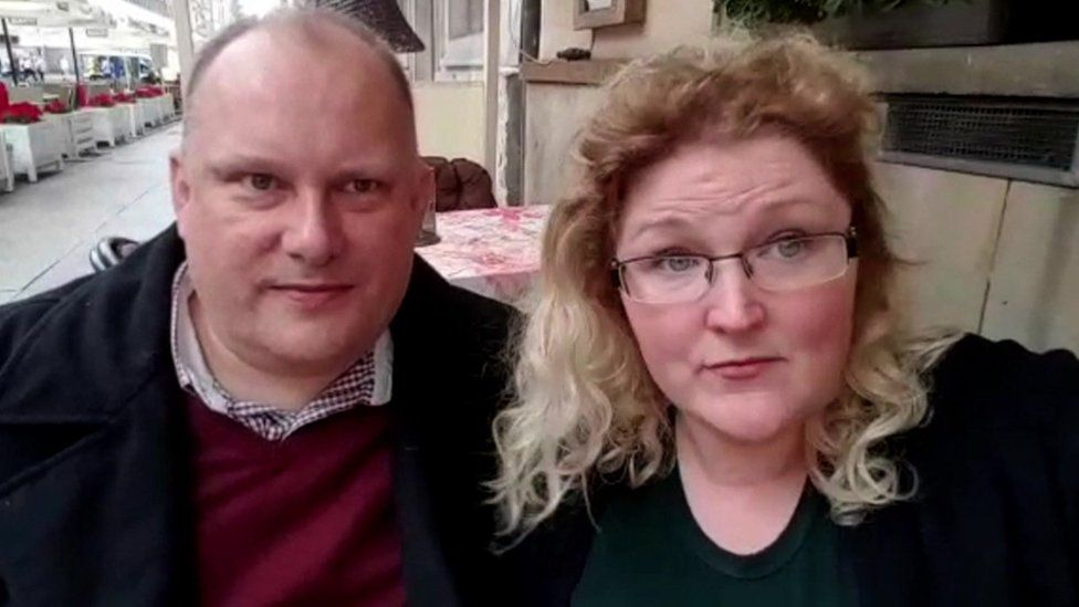 Carrie Ann Woodgate and Alan Fosberry in Poland