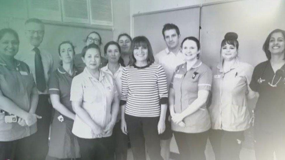 Lorraine Kelly with ITV staff
