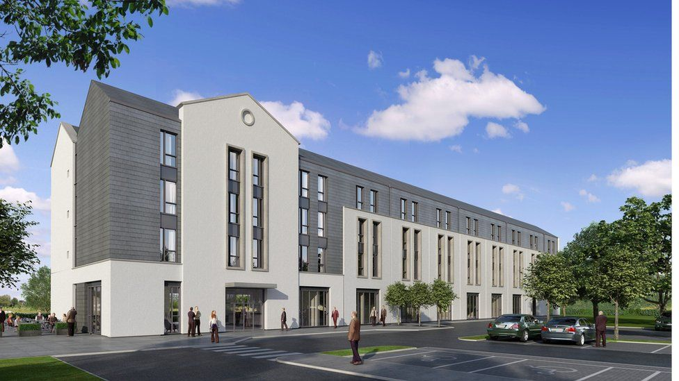 Artists impression of the new hotel