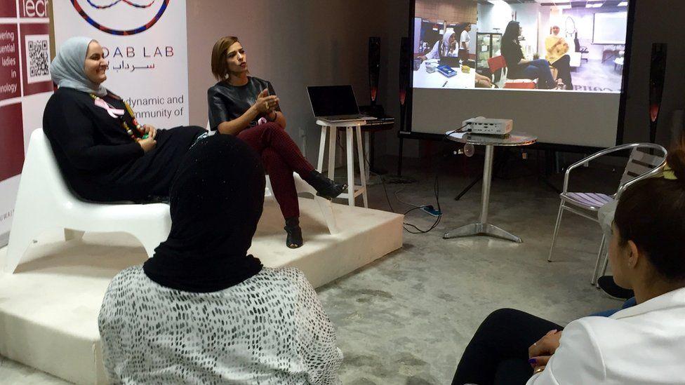 Arwa Al-Jaser (left)