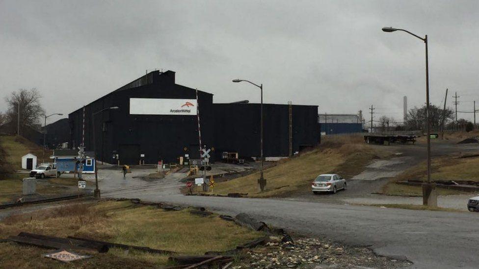 ArcelorMittal steel mill in Conshohocken