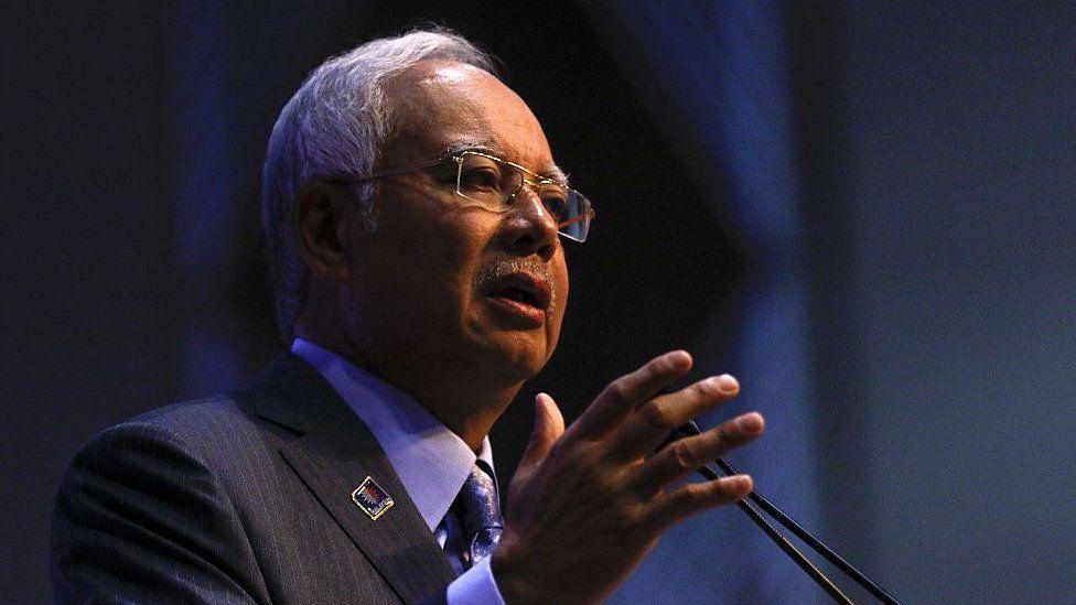Malaysian Prime Minister Najib Razak speaks during the Budget Revision in Putrajaya on January 20, 2015