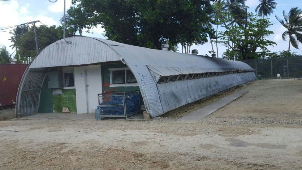 Accommodation inside the Manus Island detention centre in Papua New Guinea