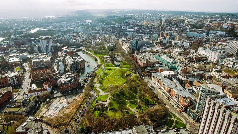 Aerial shots of Bristol