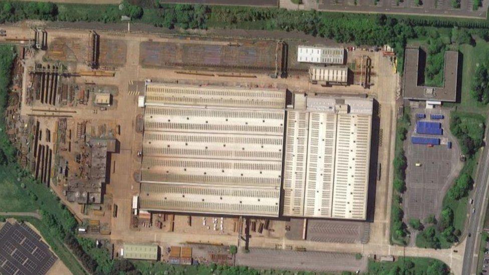 Aerial view of Cleveland Bridge site