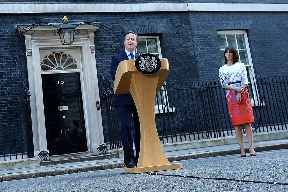 David Cameron announces his resignation outside Downing Street, 24 June 2016
