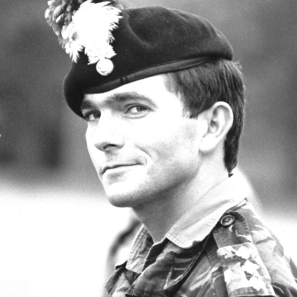 Dr Alex Brown in his soldiering days