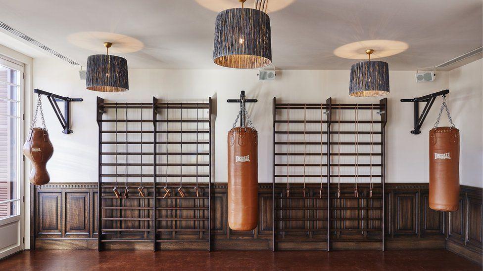 The gym at Soho House Barcelona
