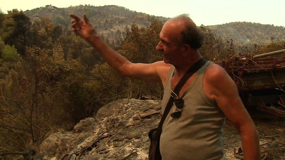Evia farmer Vangelis Katsaros