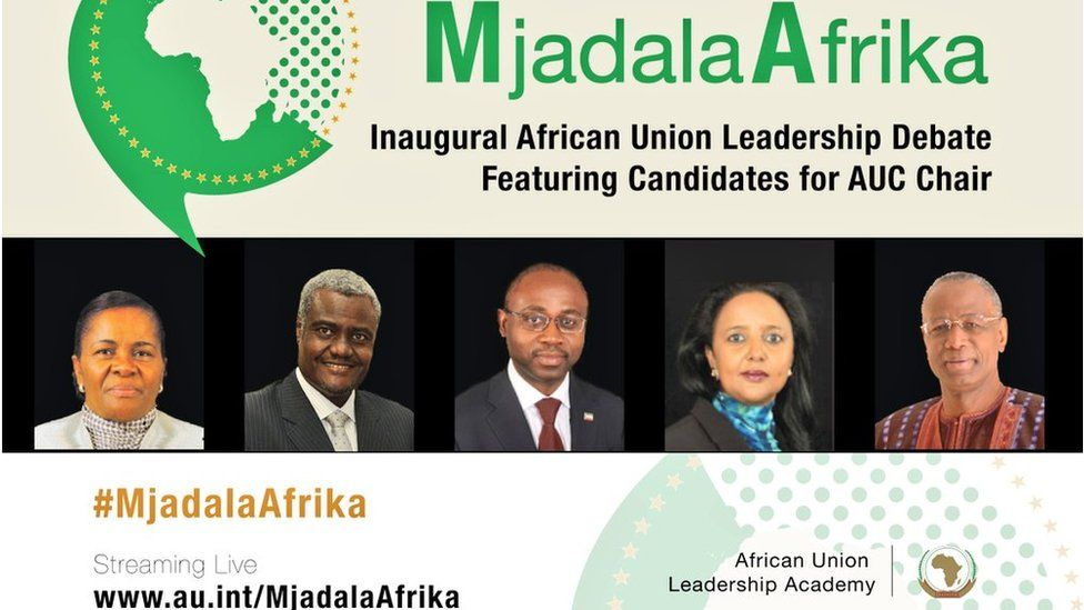 Promotional poster for the AU debate.