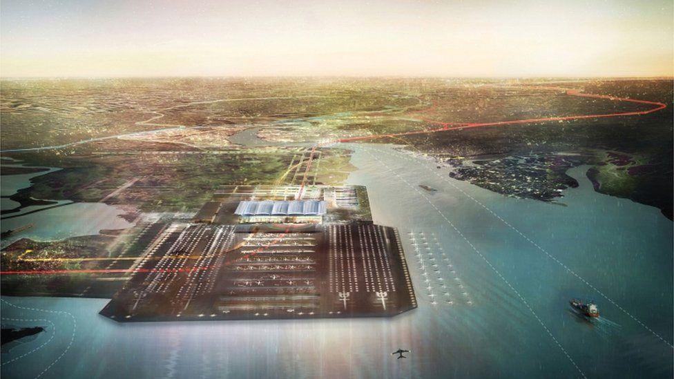 Computer generated image of 'Boris Island' airport