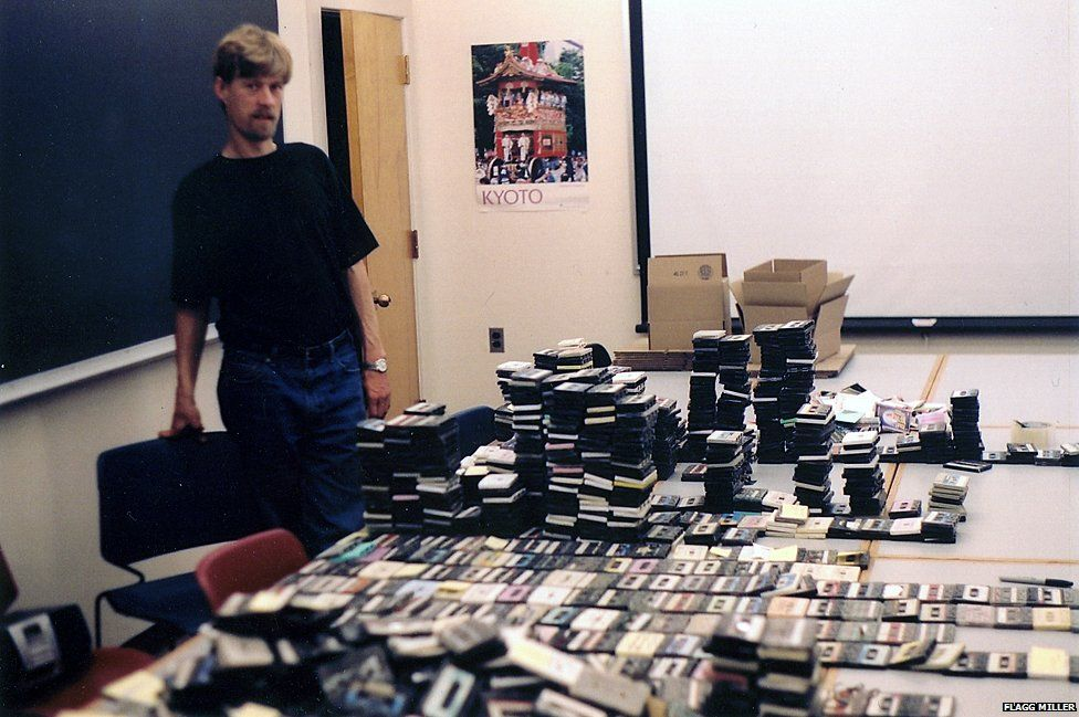 Flagg Miller with tapes