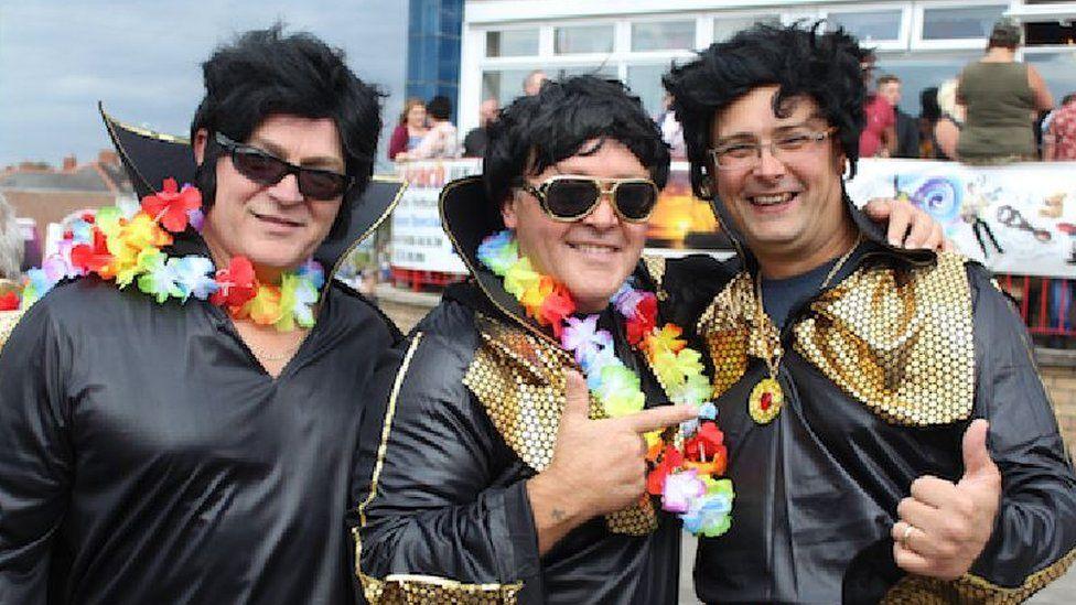 Elvis fans in Porthcawl