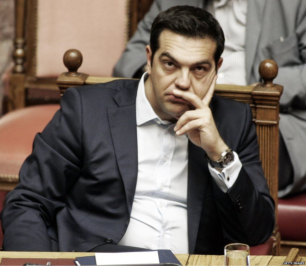 Greek PM Alexis Tsipras, 28 Jun 15
