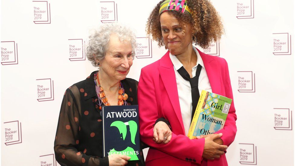 Margaret Atwood and Bernardine Evaristo shared the Booker Prize