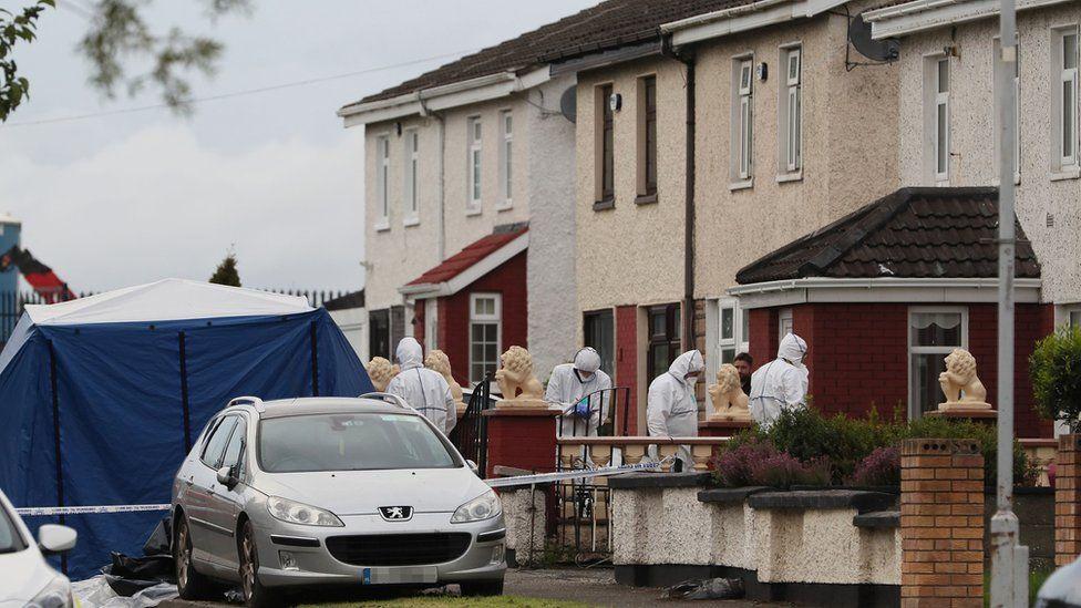 Scene of shooting on Balbutcher Drive, Ballymun in Dublin