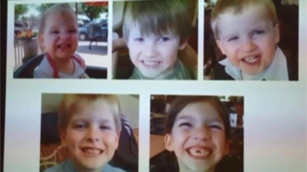All five of the former couple's children were killed by their father