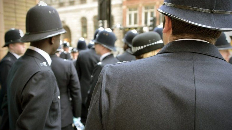 A group of police officers