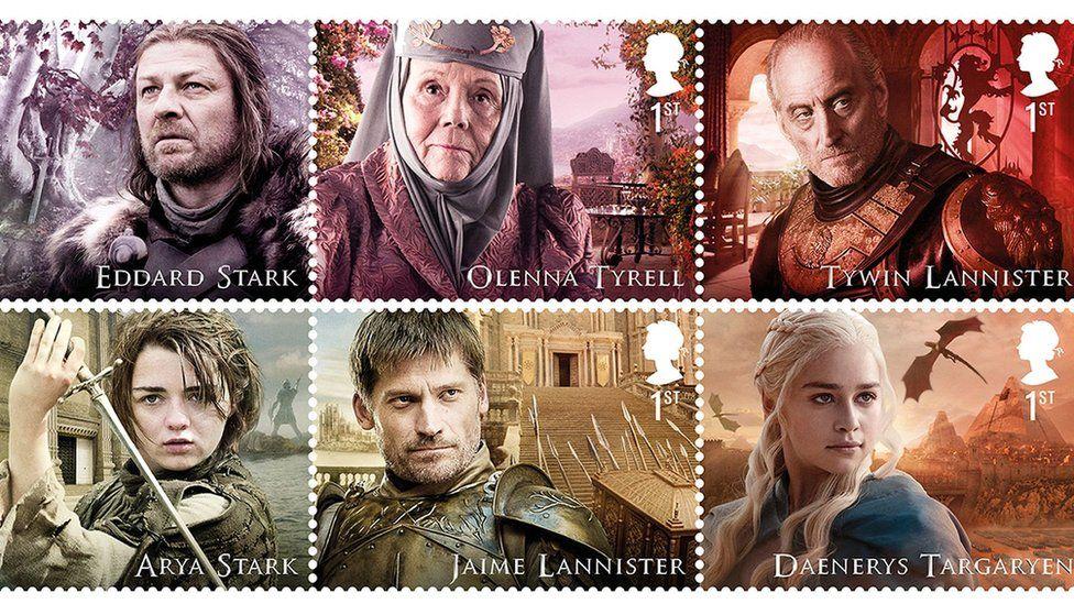 """В Британии появятся марки с персонажами """"Игры престолов"""""""