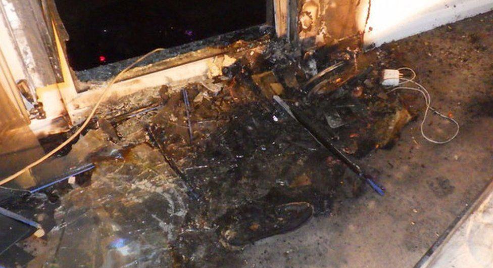 fire damage in flat