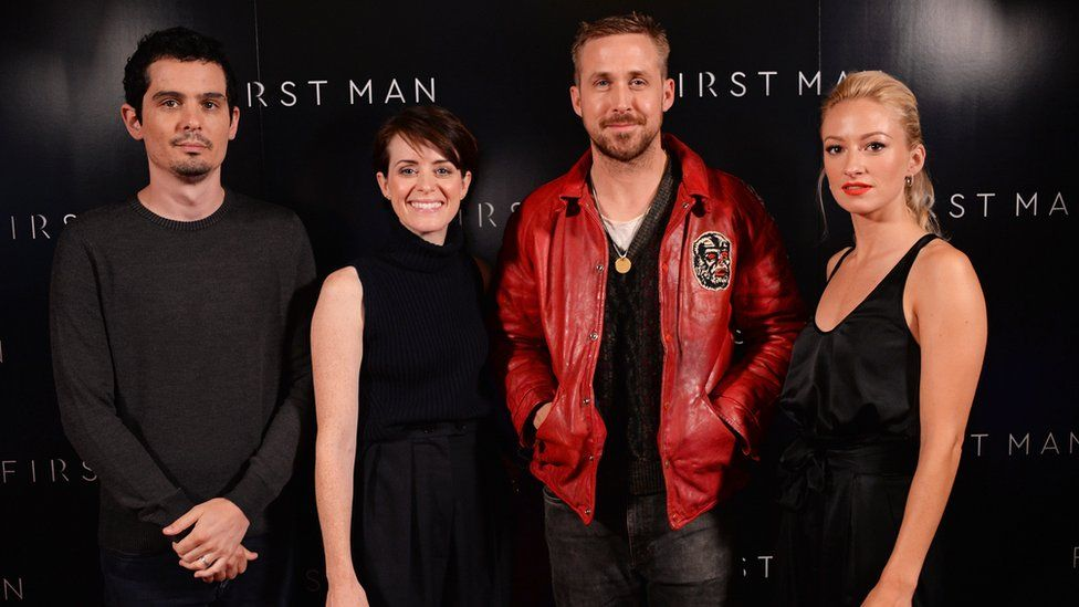 Ryan Gosling and the cast of First Man
