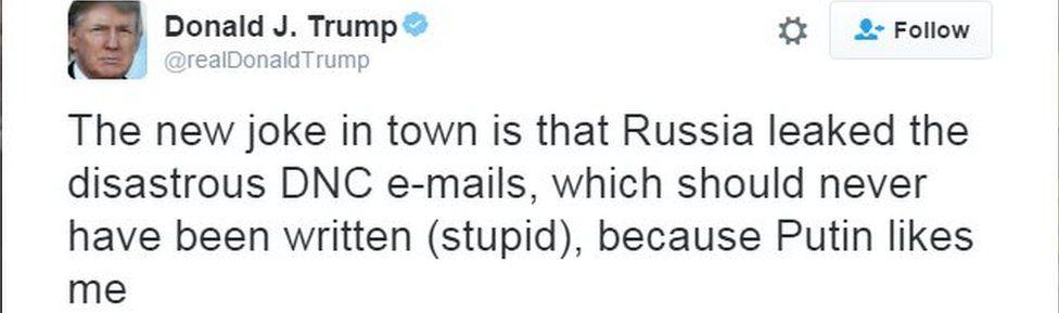 Tweet by Donald Trump