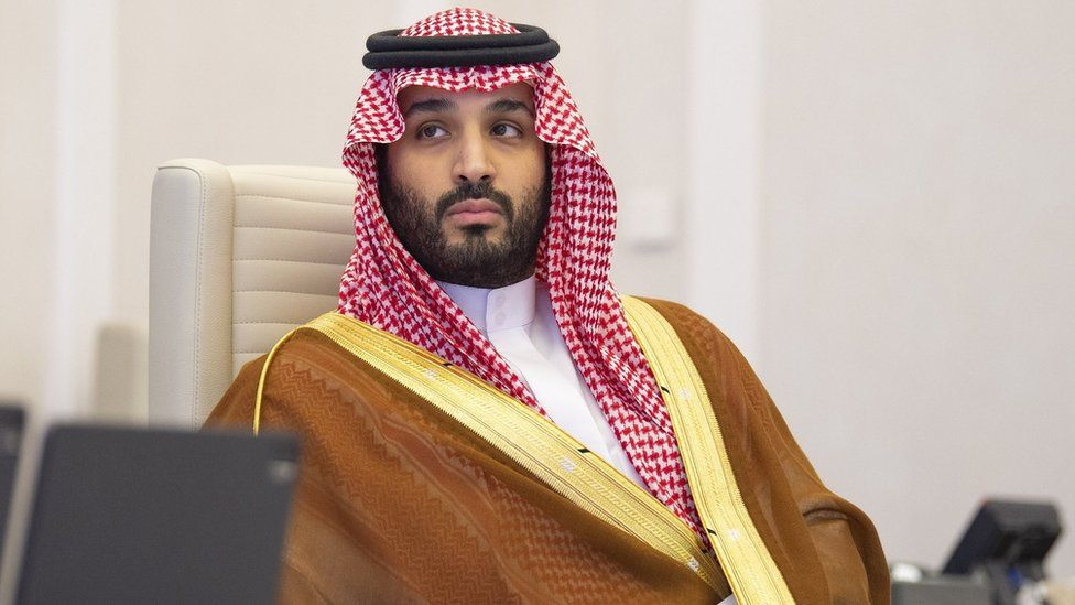 A handout photo shows Saudi Arabia's Crown Prince Mohammed bin Salman at the G20 Riyadh Summit, Riyadh, Saudi Arabia (21 November 2020)