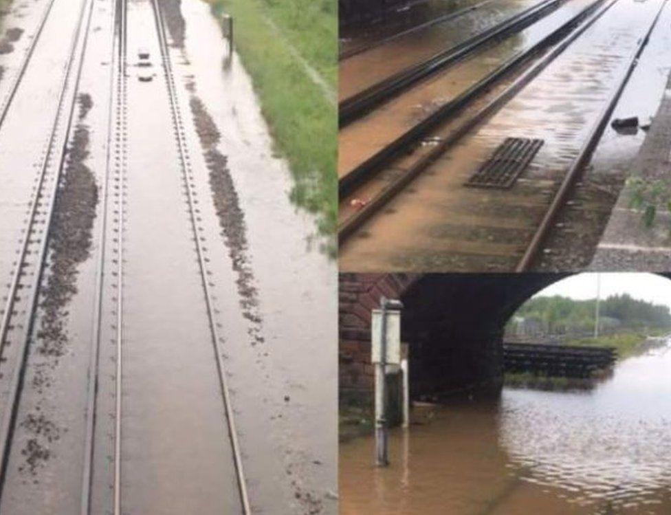 Tracks flooded