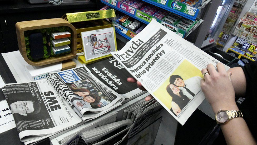 Newspaper stand in Slovakia