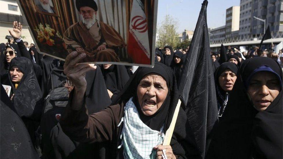 Anti-Saudi protest in Tehran (25/09/15)
