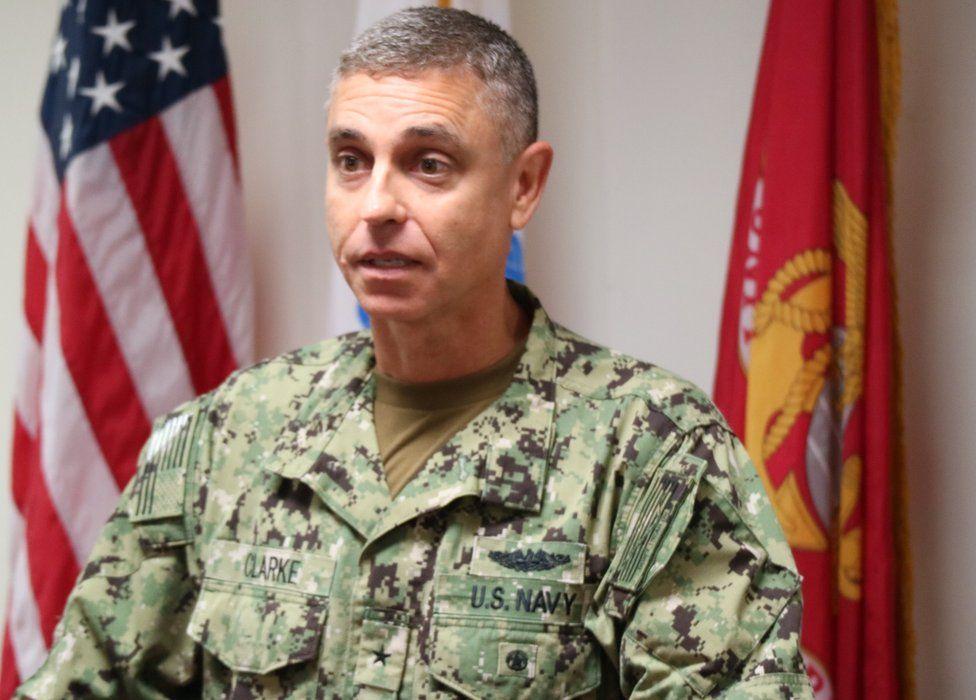 Rear Adm Peter Clarke, commander of Joint Task Force Guantanamo