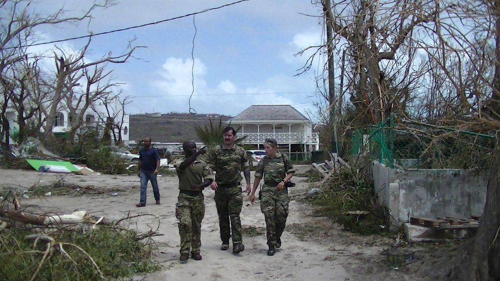 UK troops in Anguilla