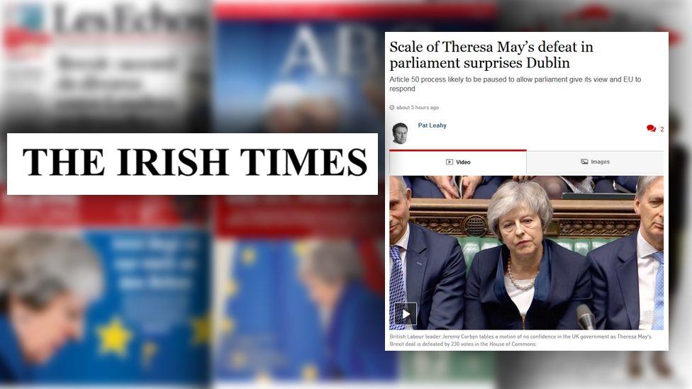 Irish Times website