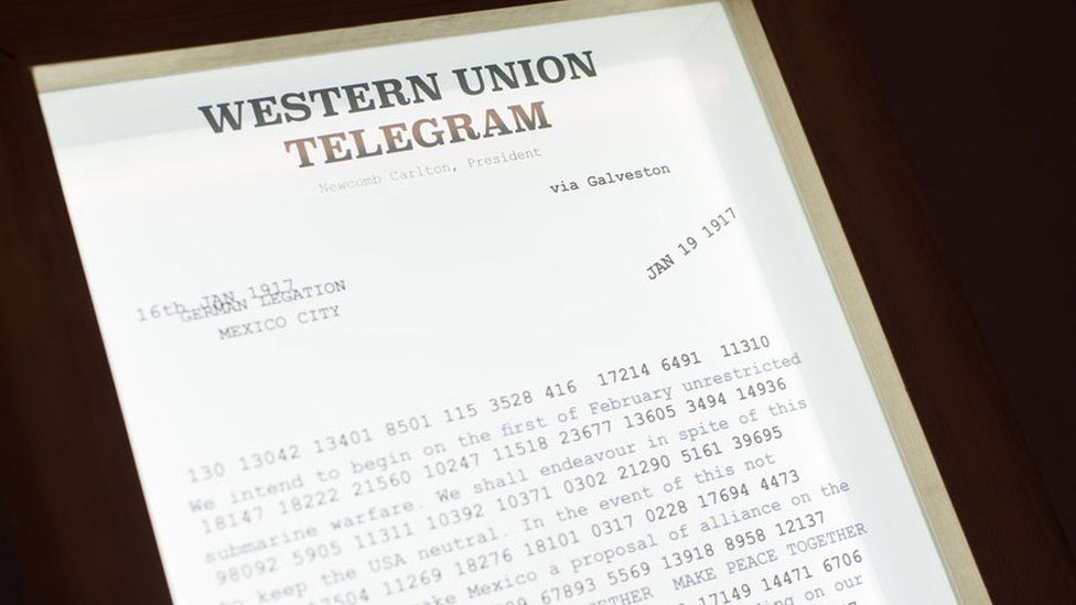 A copy of the Zimmerman Telegram