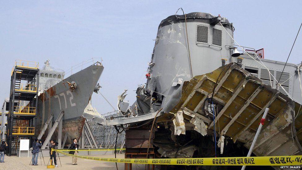 Wreckage of the Cheonan