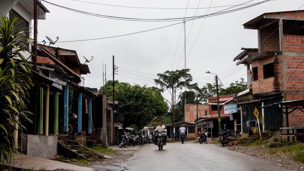 A street in La Carmelita
