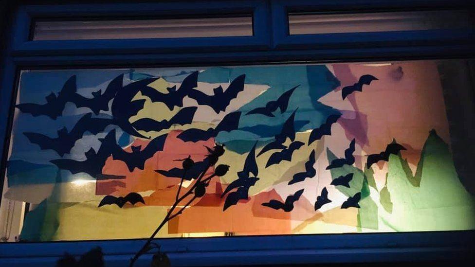 Tissue paper bat display