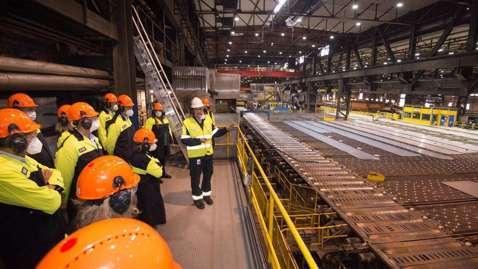 SSAB showed off the world's first fossil-free steel plate in August