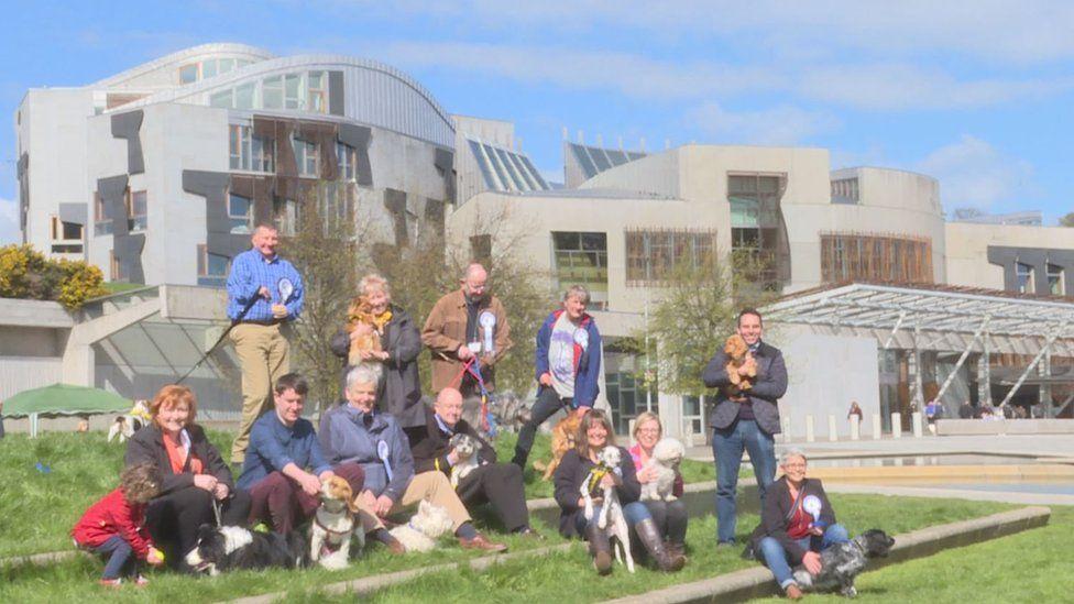 MSPs outside Holyrood