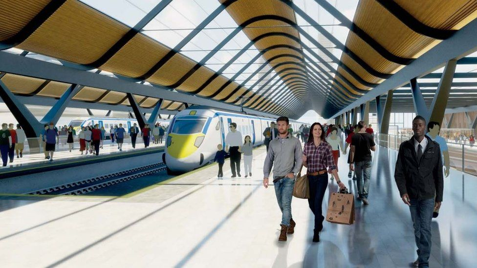 Proposed HS2 platforms in Manchester