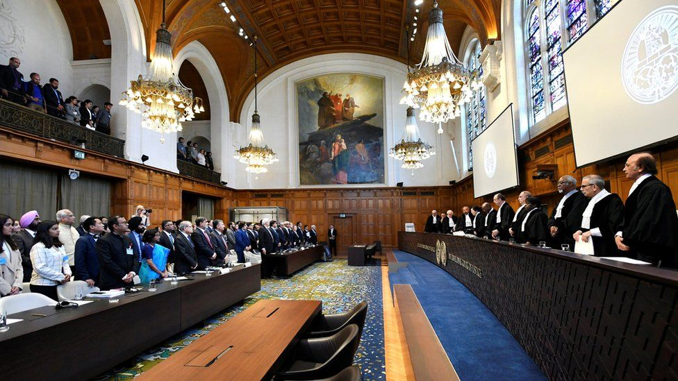 Judges at the ICJ for the hearing