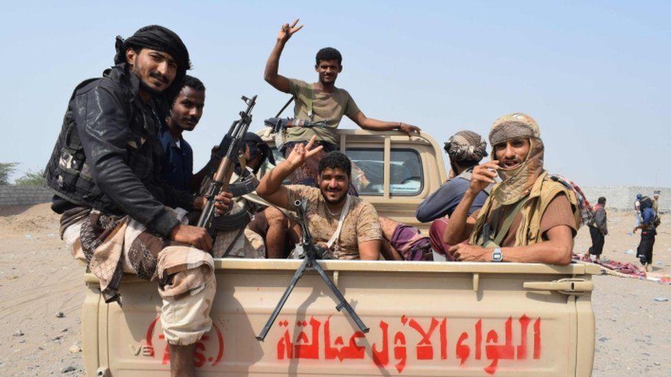 Yemeni pro-government forces advance towards the port city of Hodeida on 6 November 2018