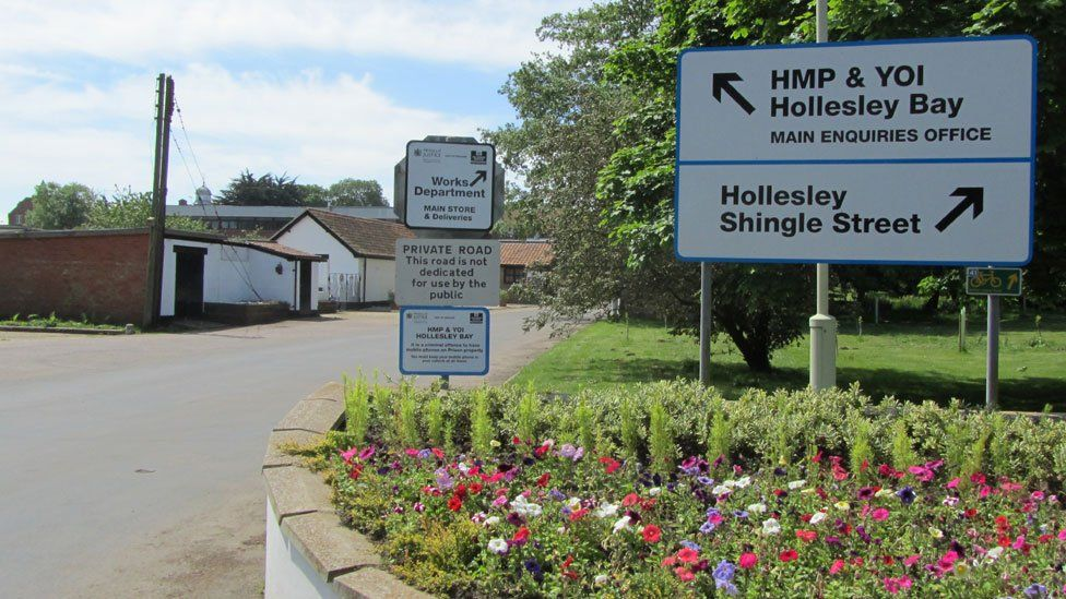 HMP & YOI Hollesley Bay sign