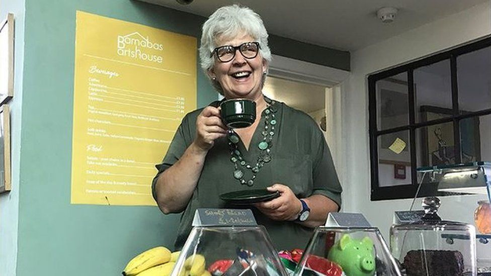 Jan Martin, owner of Barnabas Arts House in Newport