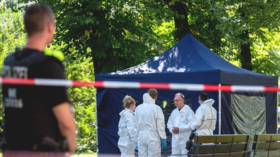 Crime scene in Moabit, Berlin, 23 Aug 19