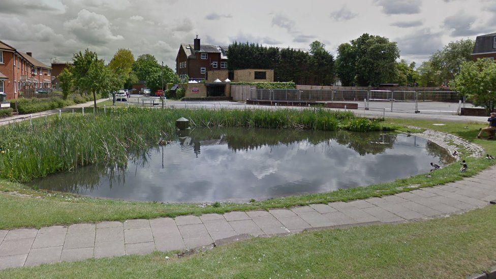 Duck pond, Aylesbury