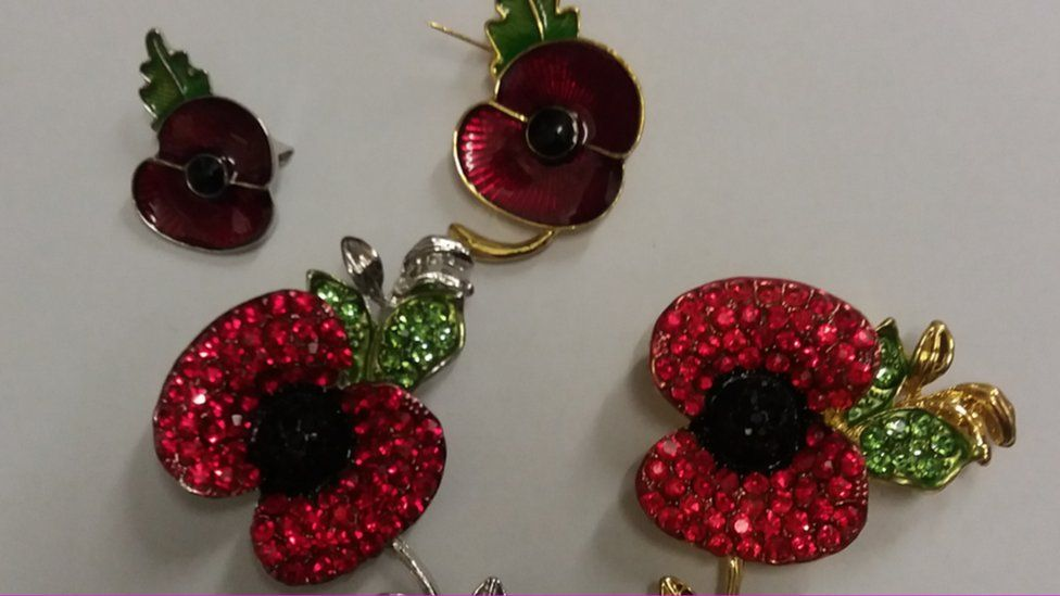Seized poppy products