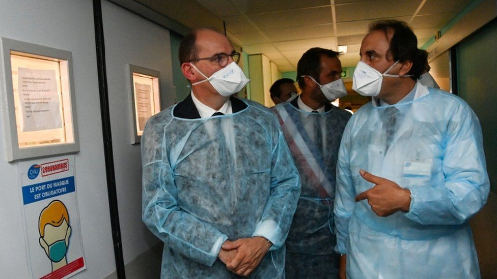 French Prime Minister Jean Castex (left) made the dire warning in Montpellier on Tuesday